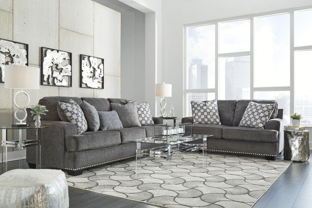 Locklin Carbon Sofa Loveseat Living Room Sets Living Room