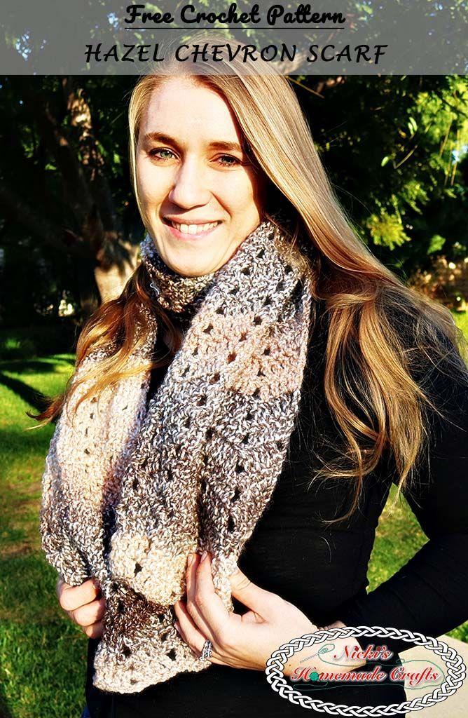 Hazel Chevron Scarf - Free Crochet Pattern