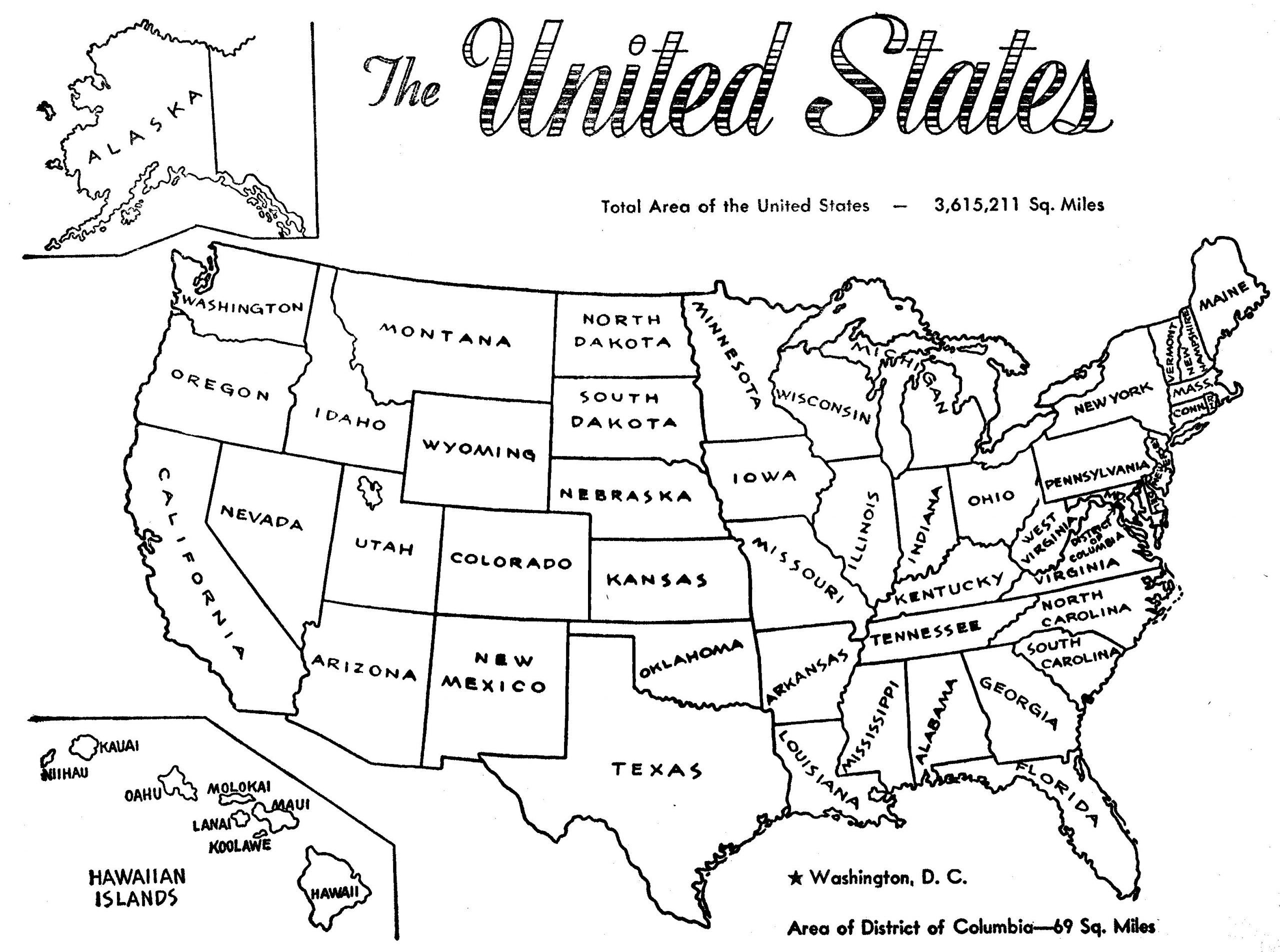 Astonishing States Coloring Pages In