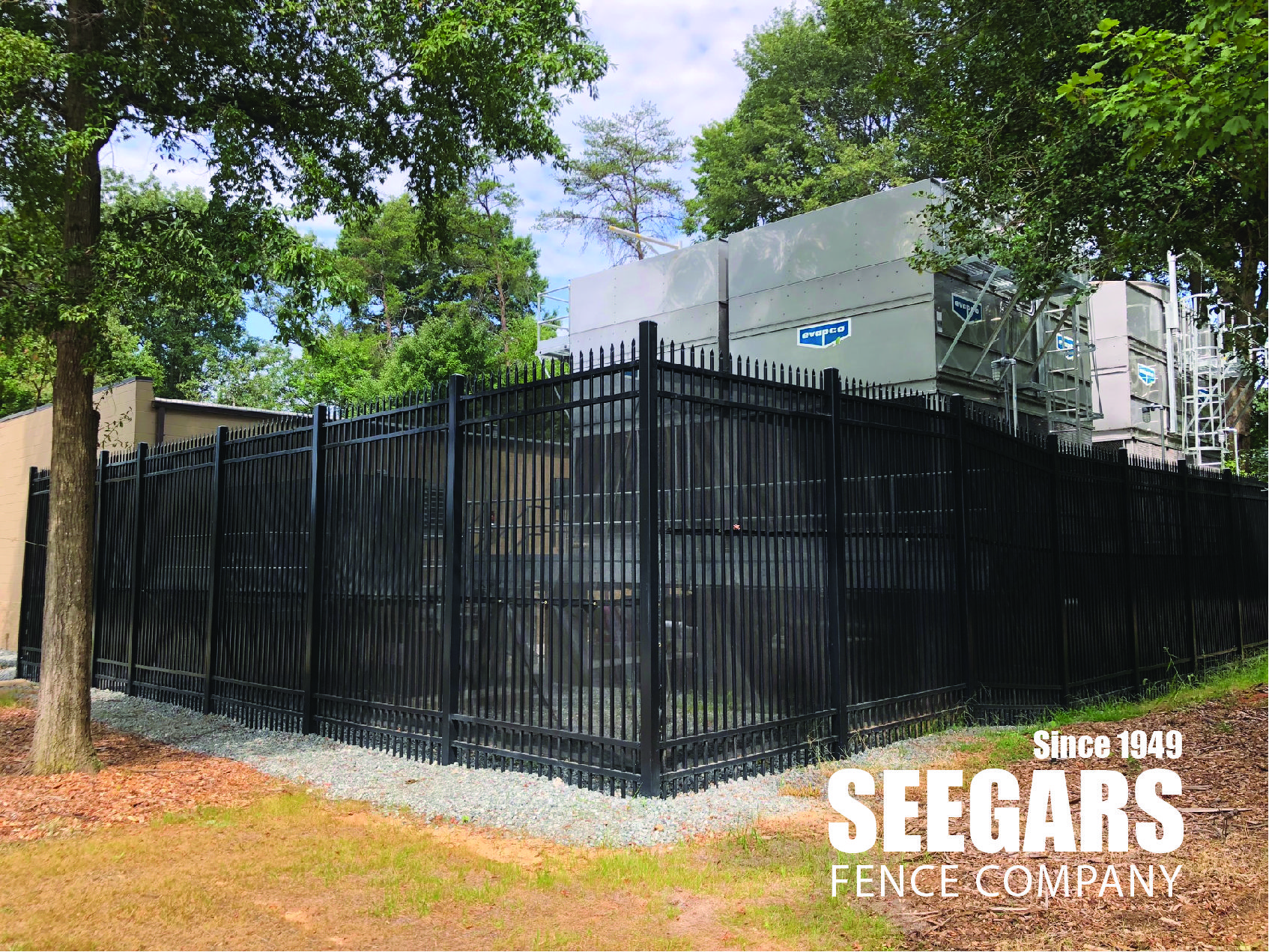 12 Ft Security Fence For Generators Seegars Fence Company Security Fence Fencing Companies Fence