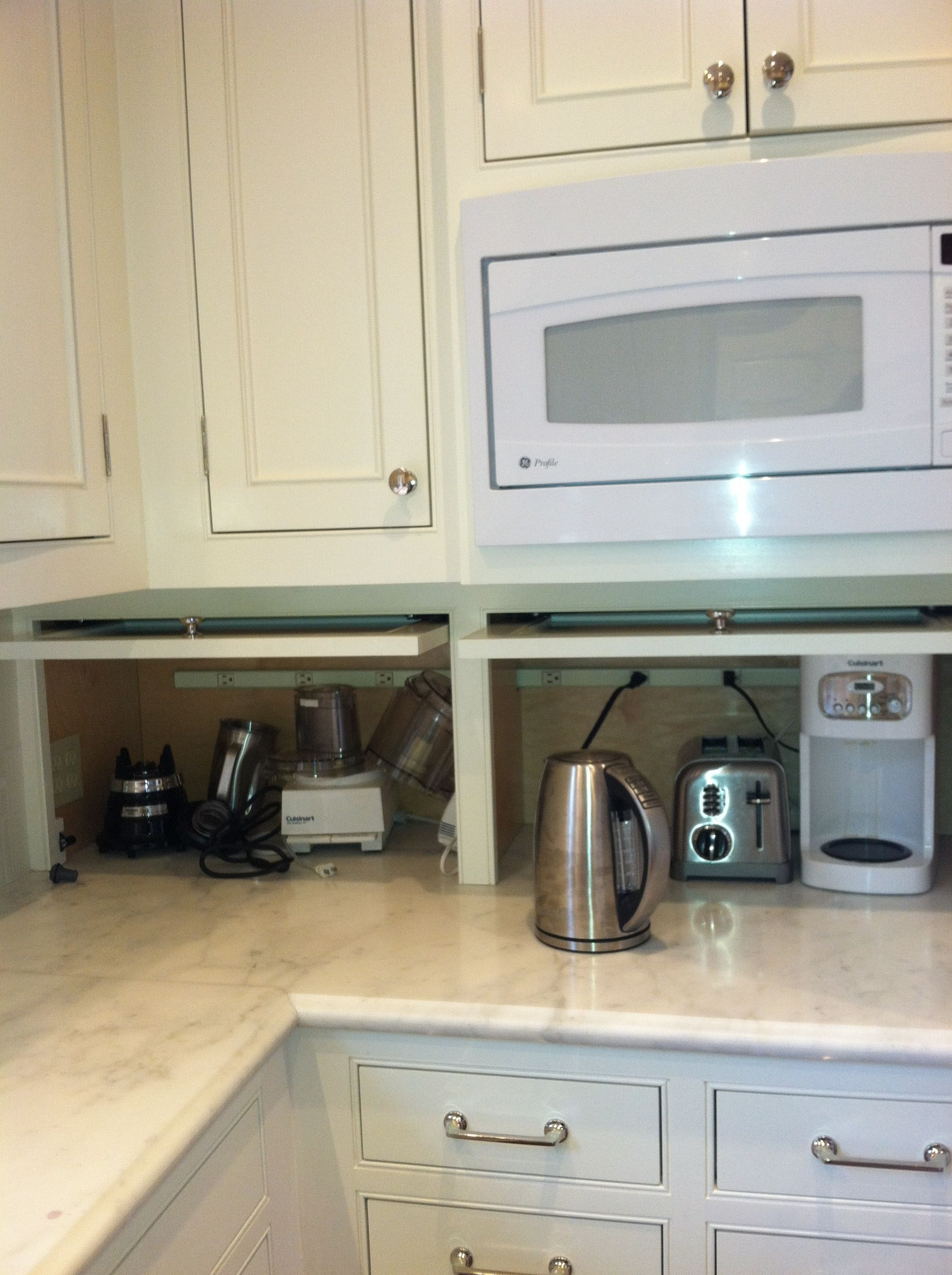 Kitchen Cabinets Appliance Garage Pin By Kerri Mccarthy On House Kitchen Kitchen Cabinets