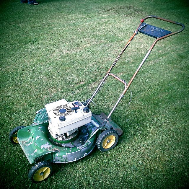 Gardena 4023 15 Inch Silent Push Reel Lawn Mower 380