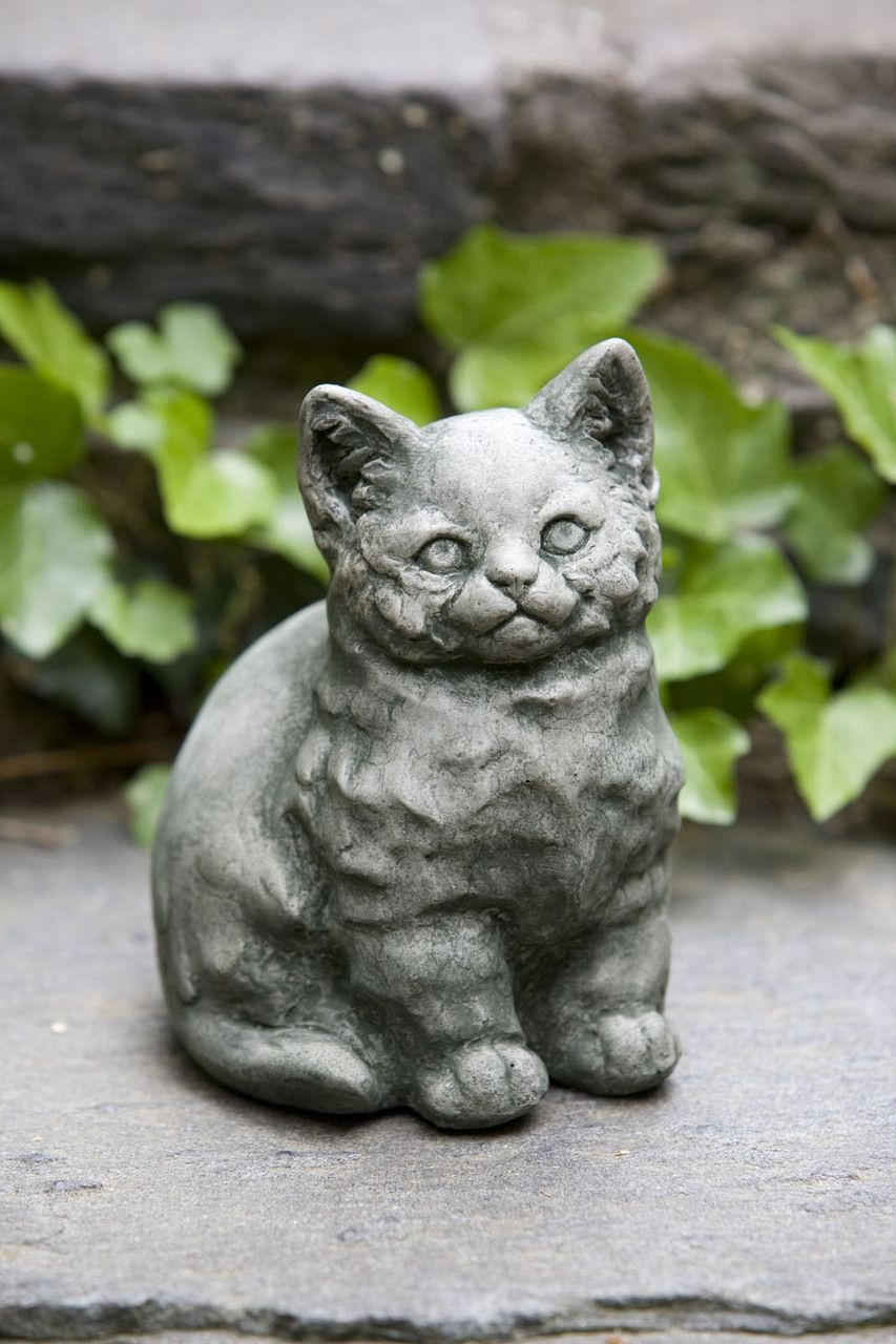 Kitty The Cat Statue. Every Garden Needs A Cat! Add A Bit Of Feline Charm  To Your Landscape With This Kitten Statue. $29.99 From GreatGardenSupply.com
