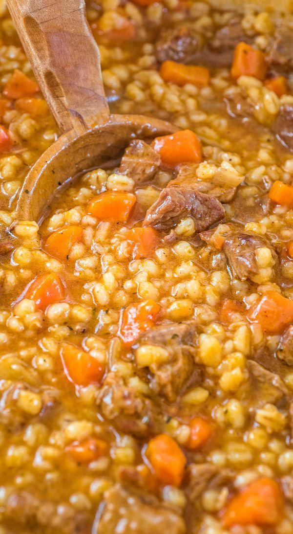 This Hearty Beef Barley Soup is a restaurant-worthy, absolutely delicious, easy-to-make and filling meal. Made with only 8 ingredients, less than 30 minutes of active cooking time, and minimal cleanup, it will feed the whole family!