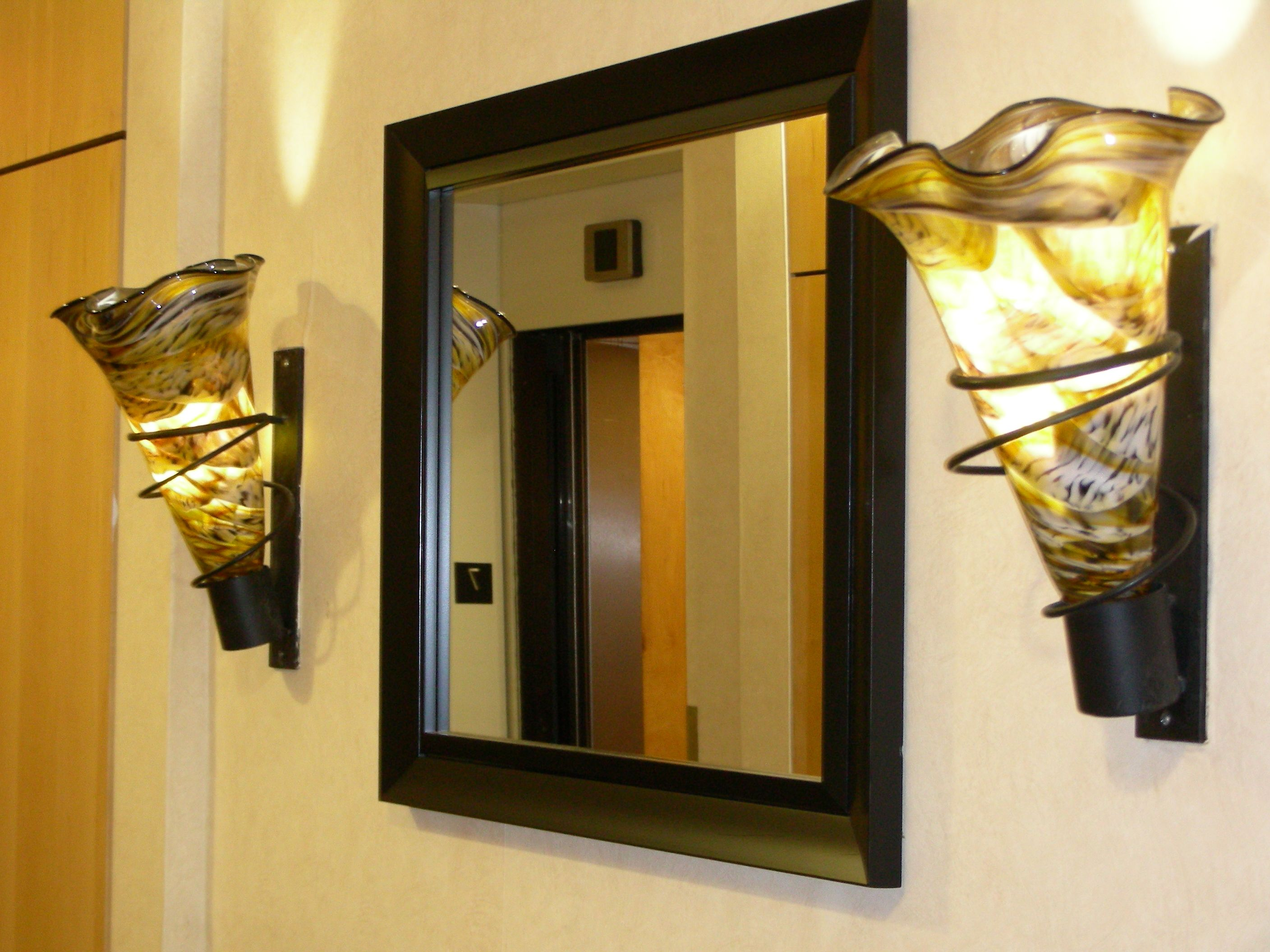 Wall sconce ideas to put next to our mirror things for - Things to put on a wall ...