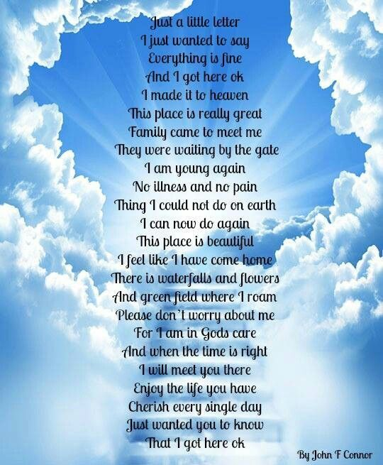 Quotes For Departed Loved Ones: Poems For Deceased Loved Ones