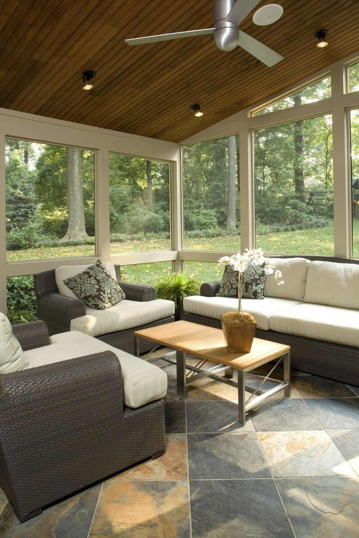 Screened Porch Ideas Sunroom Decorating Sunroom Designs House With Porch