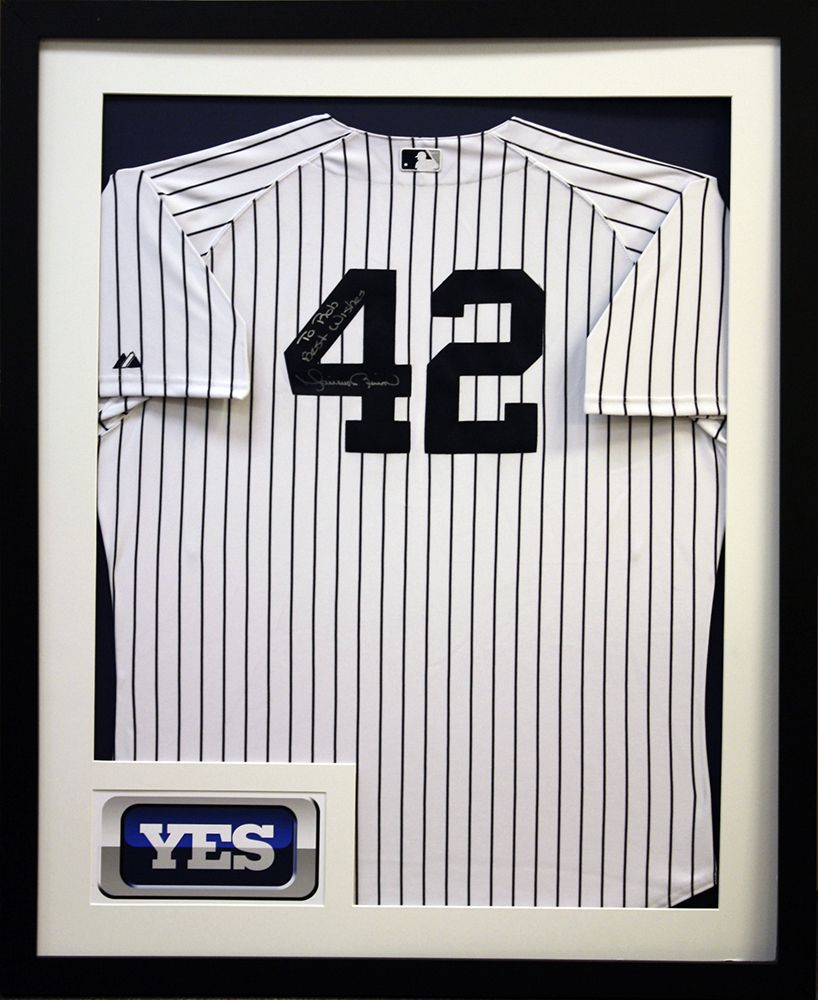 promo code 436be e2ac7 Yankees signed Mariano Rivera jersey preserved in classic ...