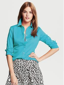 dc4784adaff Fitted Non-Iron Sateen Shirt