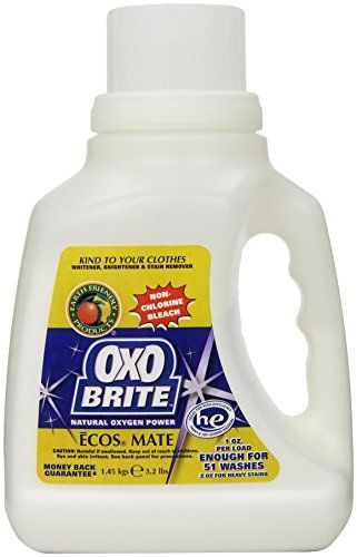 Earth Friendly Products Oxo Brite Non Chlorine Powder Bleach 3 2 Pounds Pack Of 2 Earth Friendly Products Natural Cleaning Products Mold Mildew Remover Mildew Remover