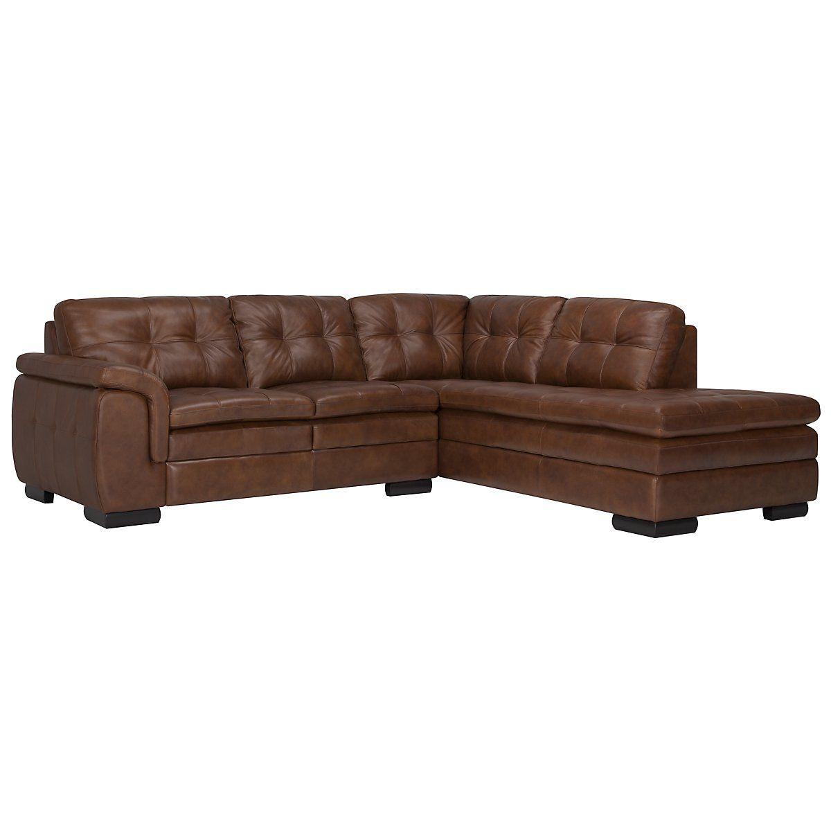 Trevor md brown leather small right bumper sectional trevor md brown leather small right bumper sectional sectional sofa