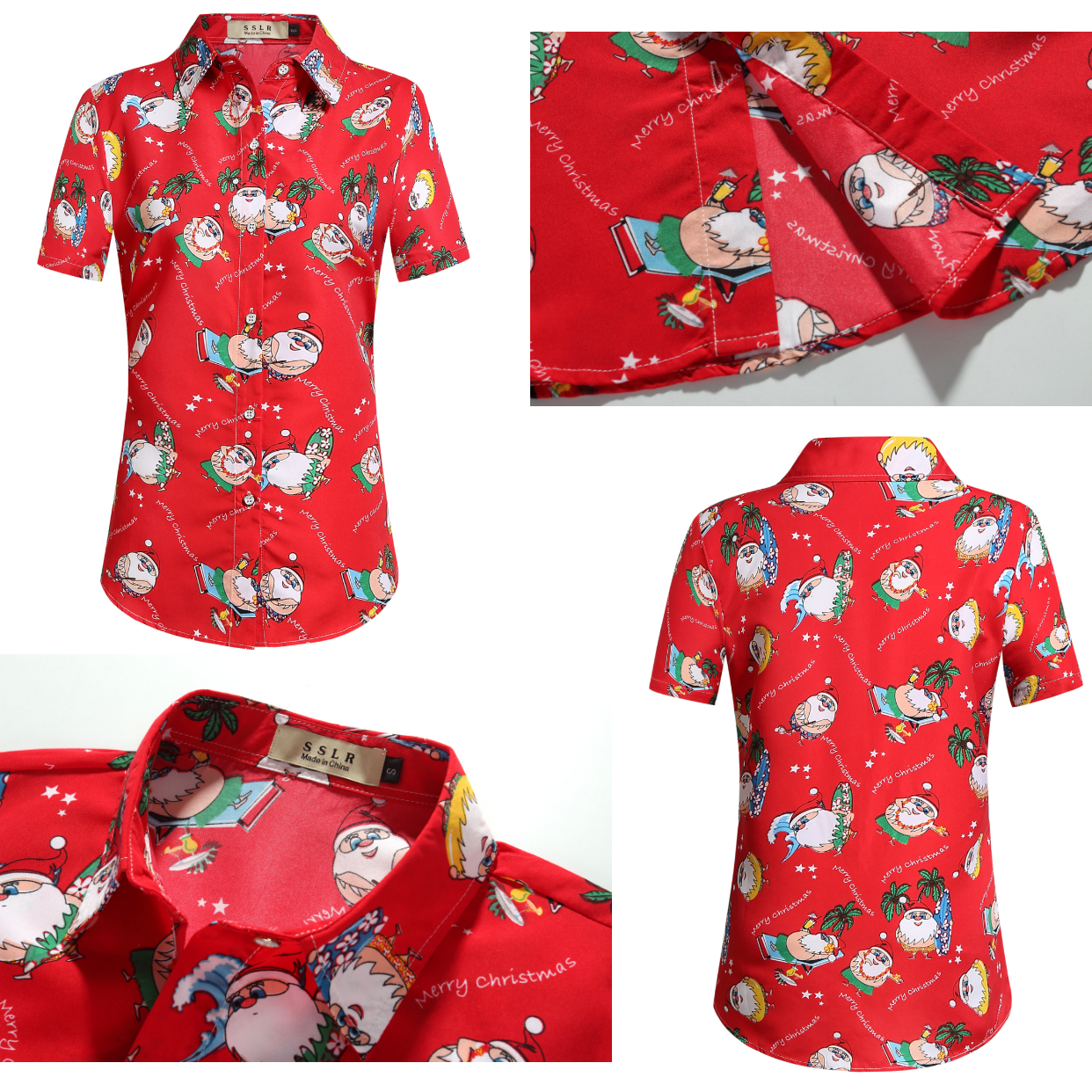 b45131db Blood Red Chirstmas Aloha Party Shirts #christmas shirts #hawaiian shirts  #red shirts