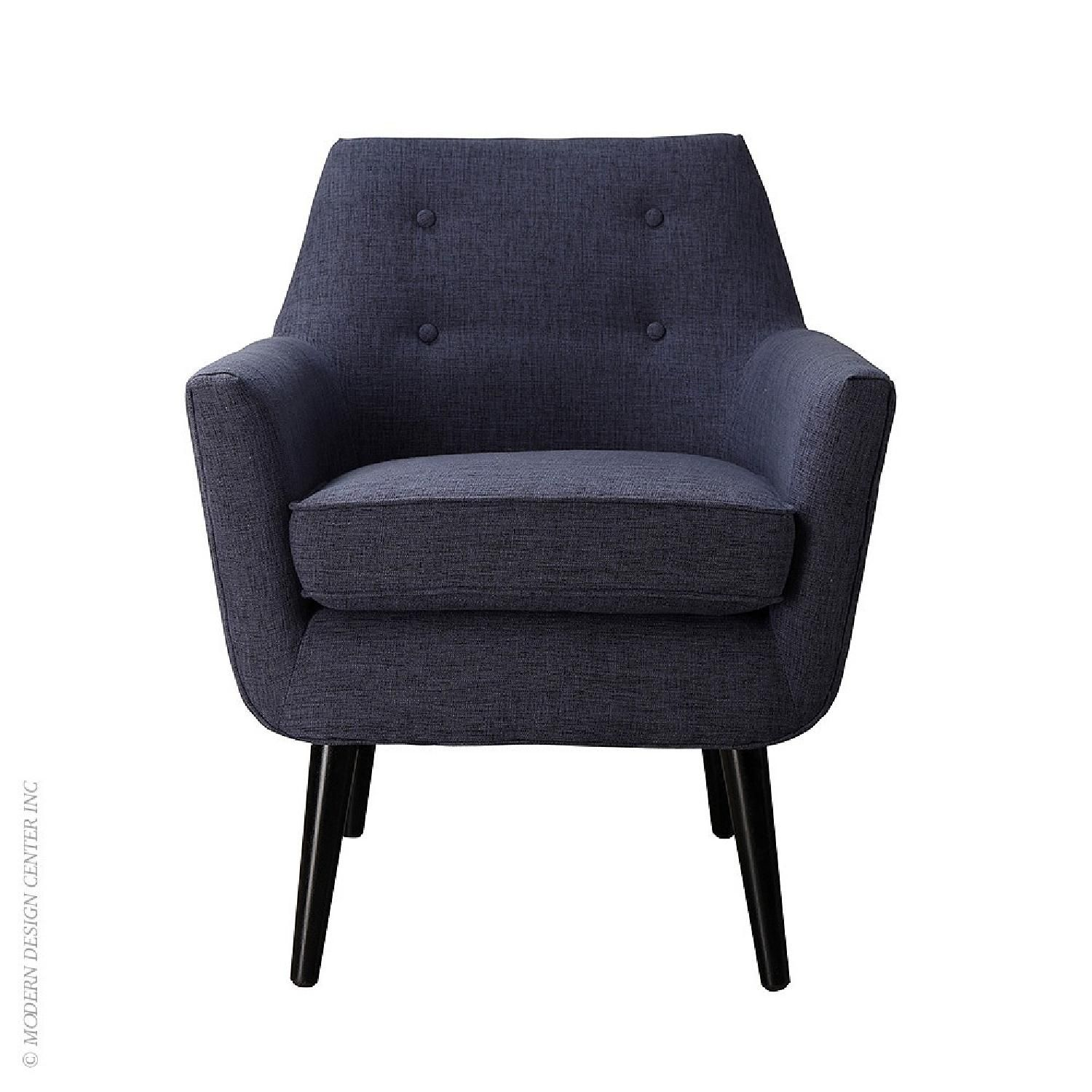 Tov clyde navy linen chair in new condition available for sale in ny queens 11385