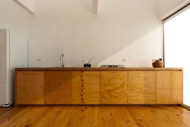 Rustic Plywood Cabinets No Handles Interior Ideas In 2019
