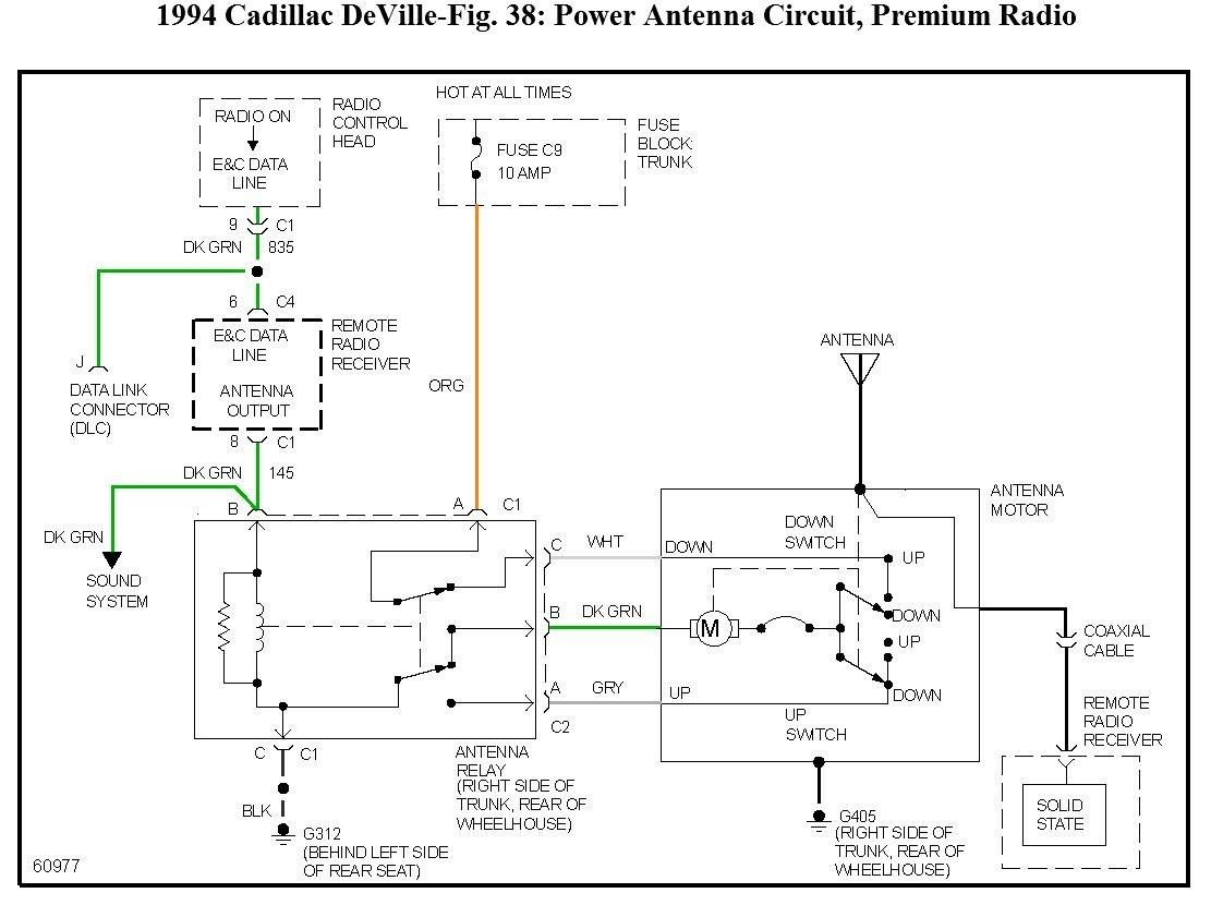 hight resolution of power antenna wiring diagram