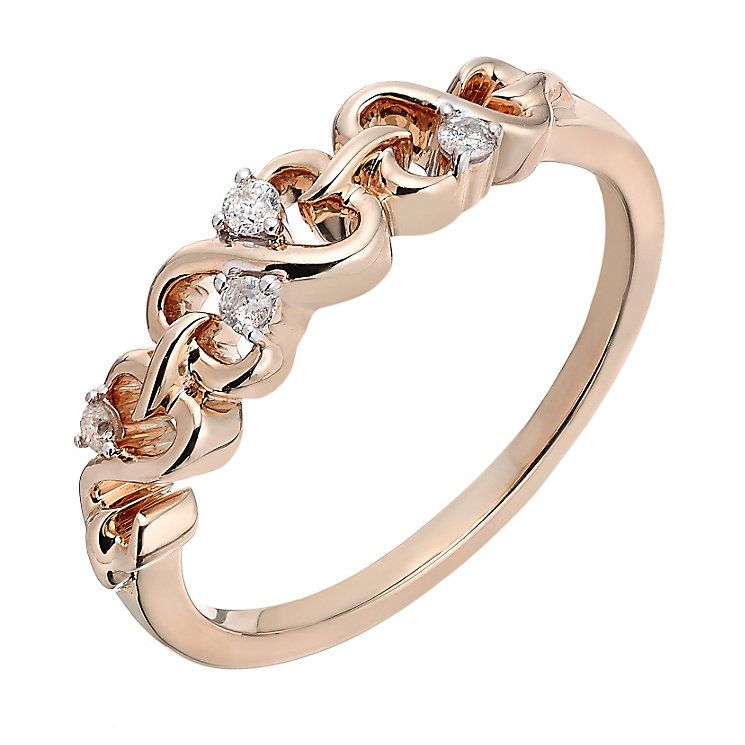 Open Hearts By Jane Seymour 9ct Rose Gold Diamond Ring Product