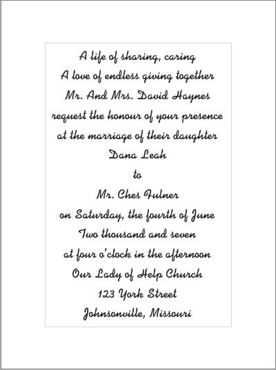 17 Best images about Wedding Invitations – Wedding Poems for Invitation Cards