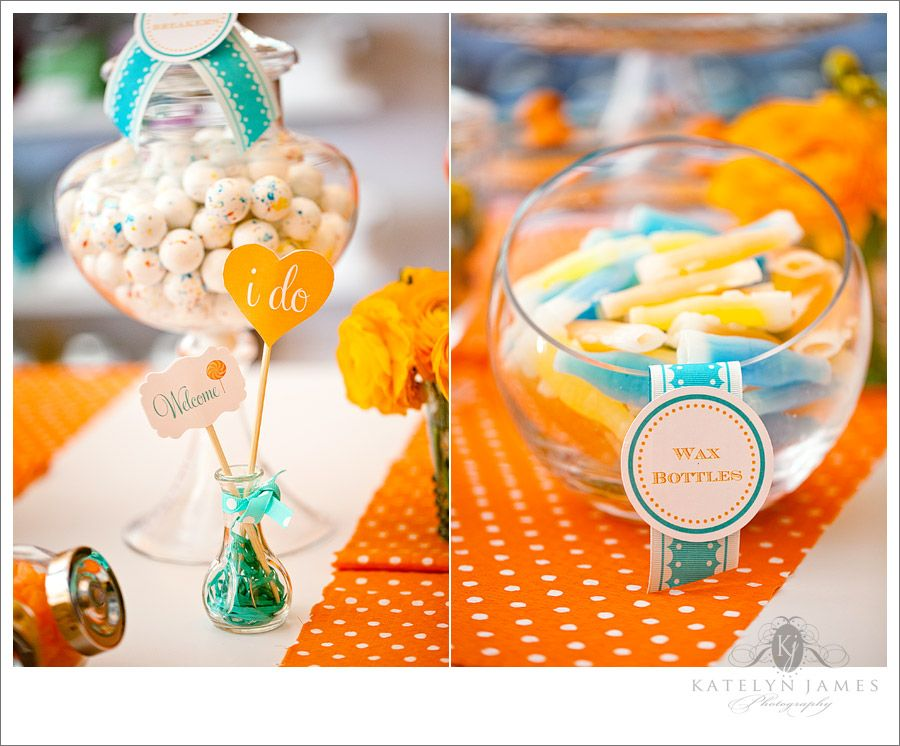 Orange And Teal Wedding Colors Retro 7541