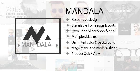 mandala responsive ecommerce shopify theme in 2019. Black Bedroom Furniture Sets. Home Design Ideas