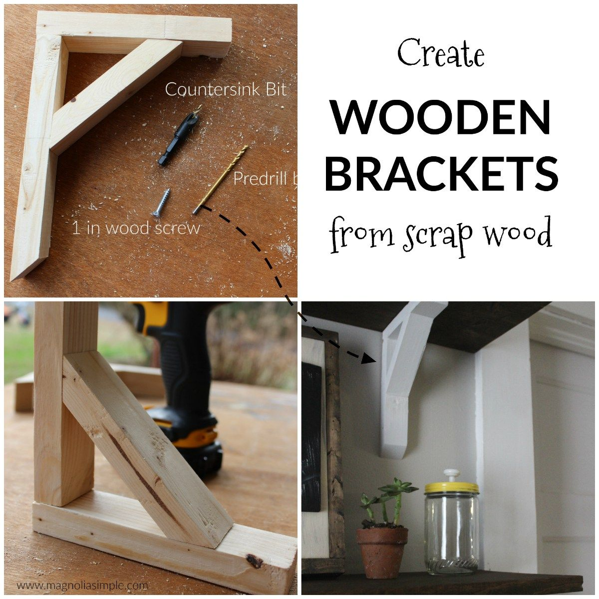 Diy Wooden Shelf Brackets Easy Inexpensive And Lovely Way To