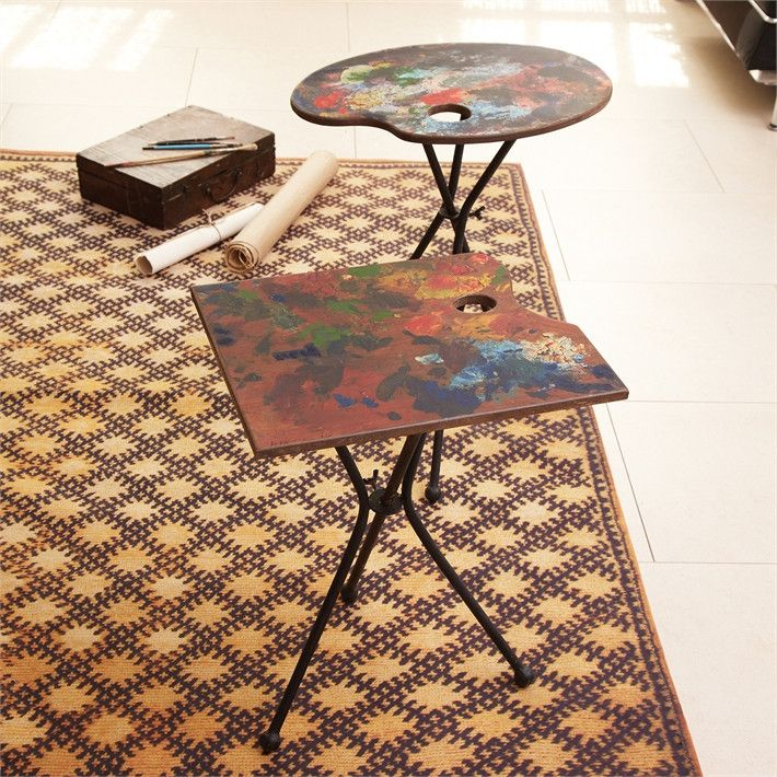 Artist Palette Table In 2 Assorted Designs Design By Tozai Burke Decor Art Studio Space Decor