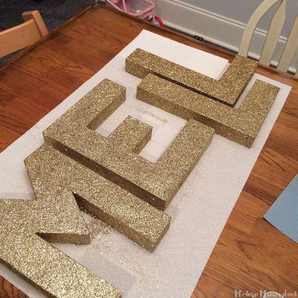 Diy Glitter Letters Modernly Morgan Glitter Diy Glitter Room Diy Letters