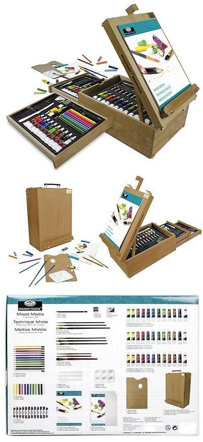 f1f53c866278a Drawing Supplies Storage 93606: Easel Artist Set 104-Piece All Media ...