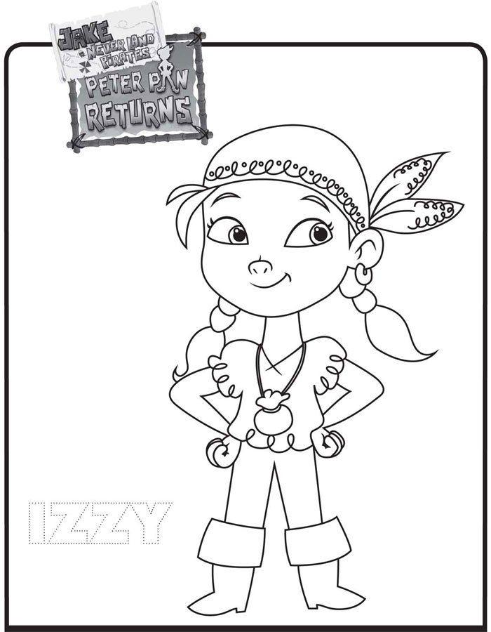 Dibujo de Izzy. Colorea estos dibujos de Jake y los Piratas | Pintar ...