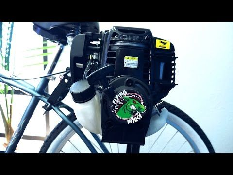 4-Stroke 38cc Friction Drive Motor Bicycle Engine Kit Installation