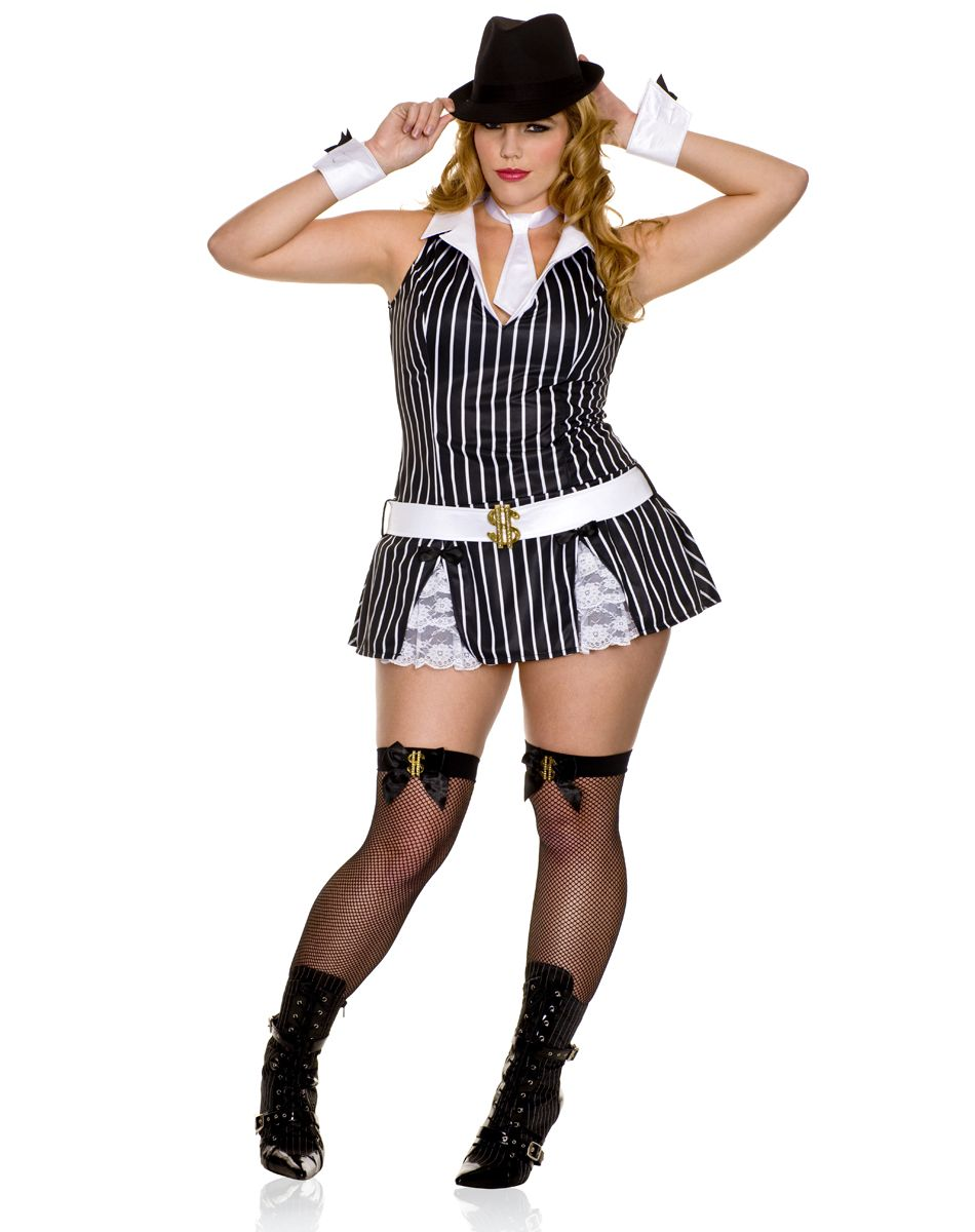 b249c6574888a Sexy Mafia Girl Adult Women s Plus Size Costume.......i want this ...