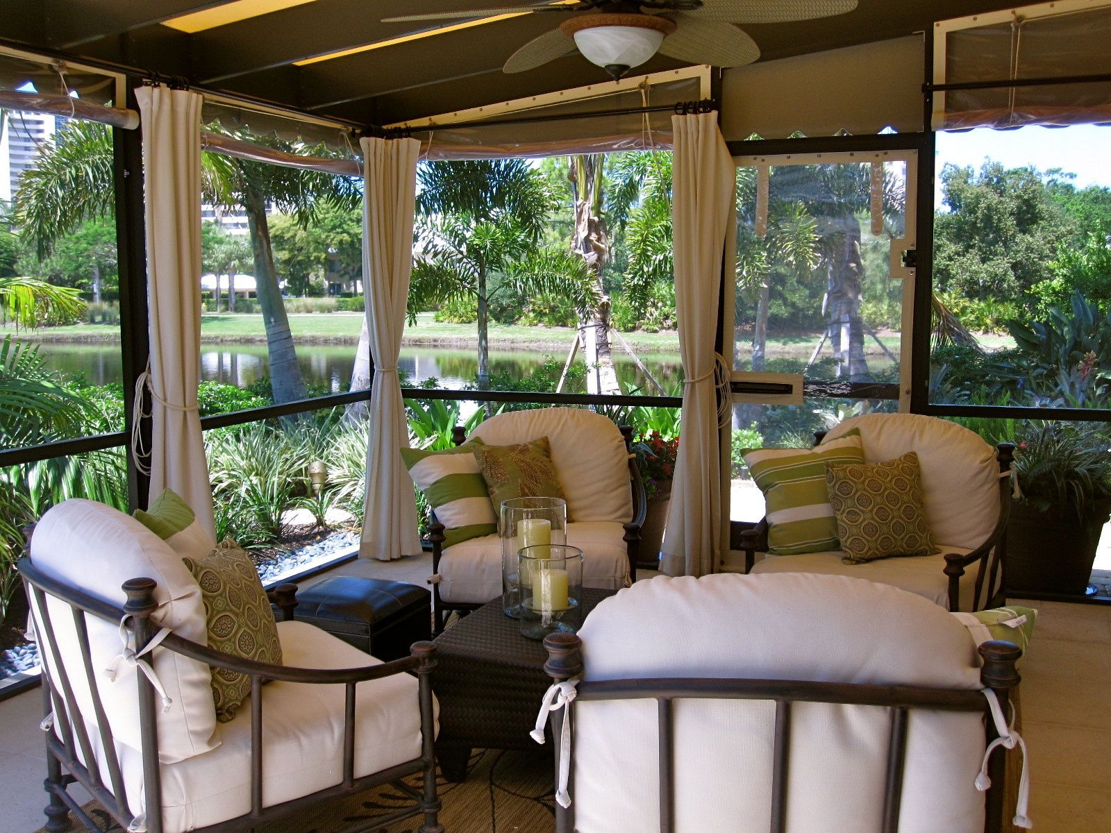 Appealing Patio Lanai Decorating Ideas With Wicker Rattan
