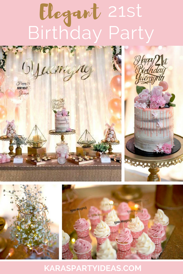 Elegant 21st Birthday Party Adult Birthday Party Ideas