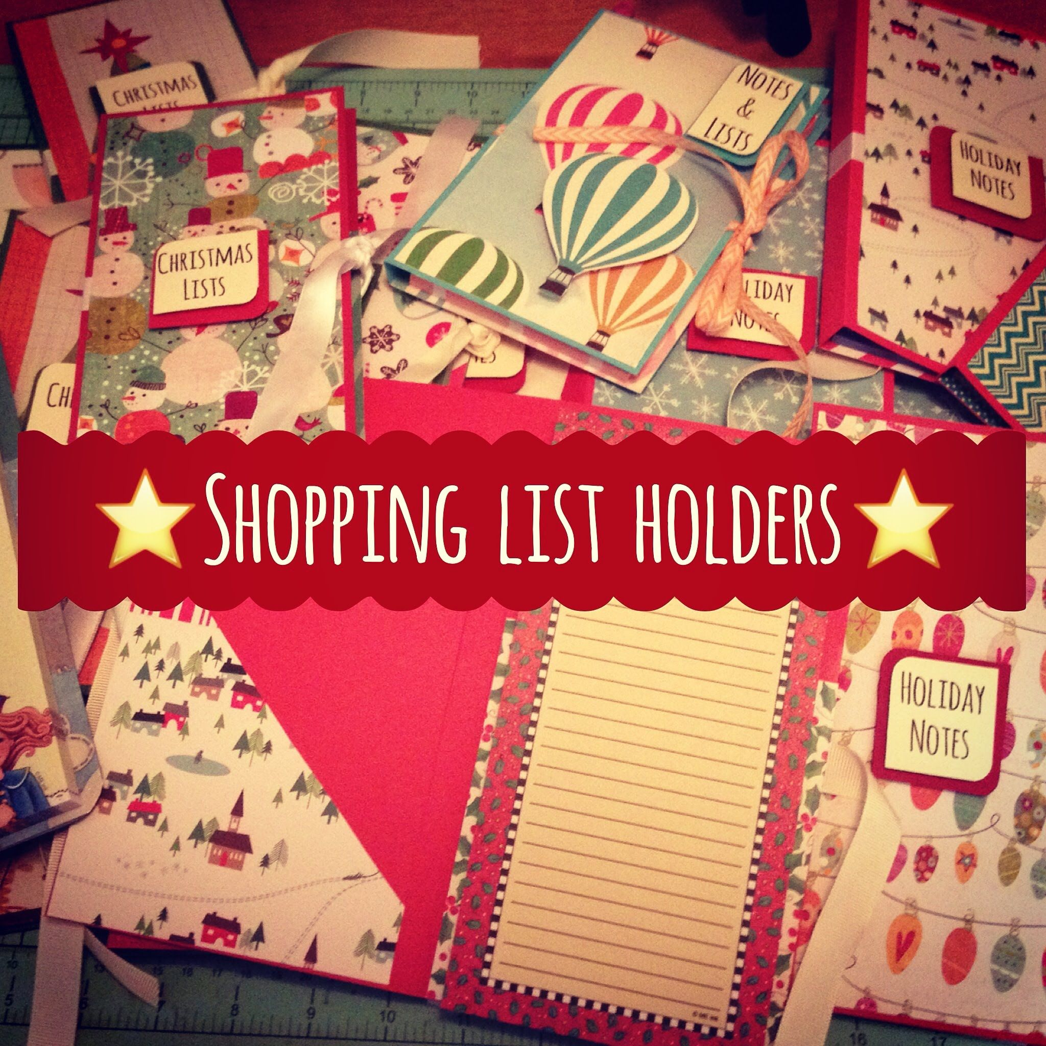 Craft Fair Idea 8 Shopping List Holders With Pocket To Hold Notepad