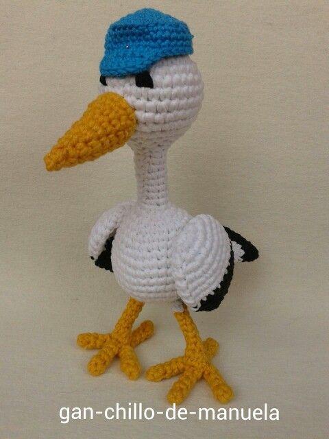Cigüeña viajera #crochet | Cigüeñas | Pinterest