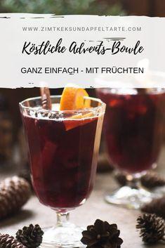 Advents-Bowle mit Früchten - ganz einfaches Rezept