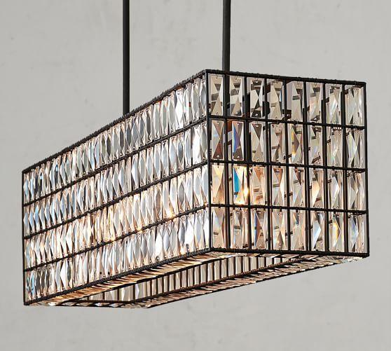 24 Rectangular Chandelier Designs Decorating Ideas: Adeline Crystal Rectangular Chandelier