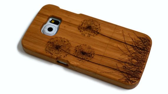 wooden Samsung Galaxy S6 case - real wood S6 case walnut / cherry or bamboo -  Dandelion