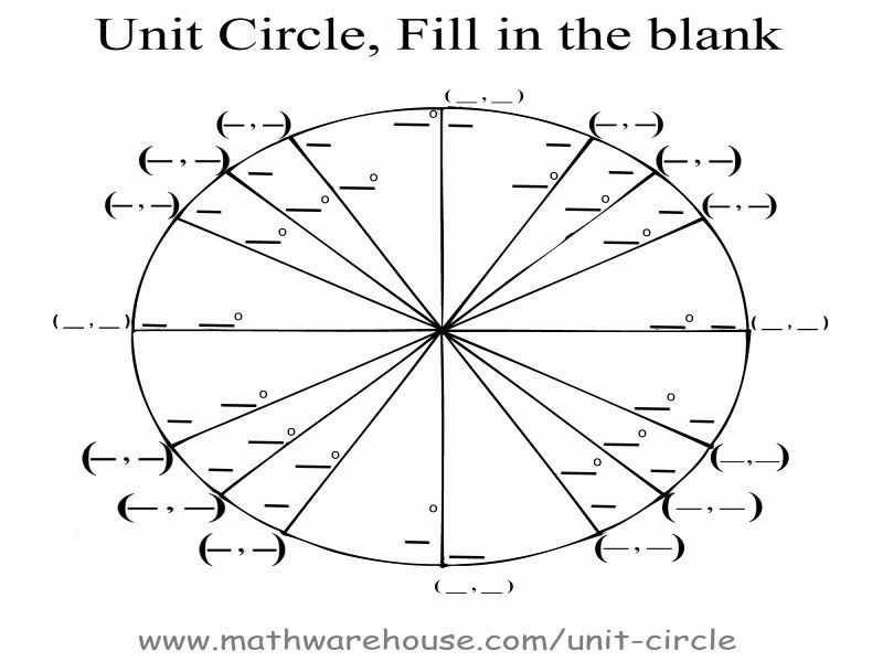 50 Unit Circle Practice Worksheet In 2020 With Images Blank