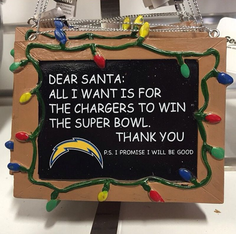San Diego Chargers Gifts: Santa Wishlist - San Diego Chargers