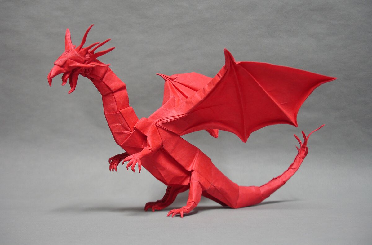 Photo of Western Dragon, Designed and Folded by Shuki Kato