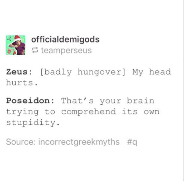 Poseidon: 1 Zeus: 0