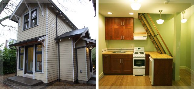 Backyard cottages abound in Portland, Oregon! Walk through an inspiring handful of them during the 2012 Build It Green! Home Tour!