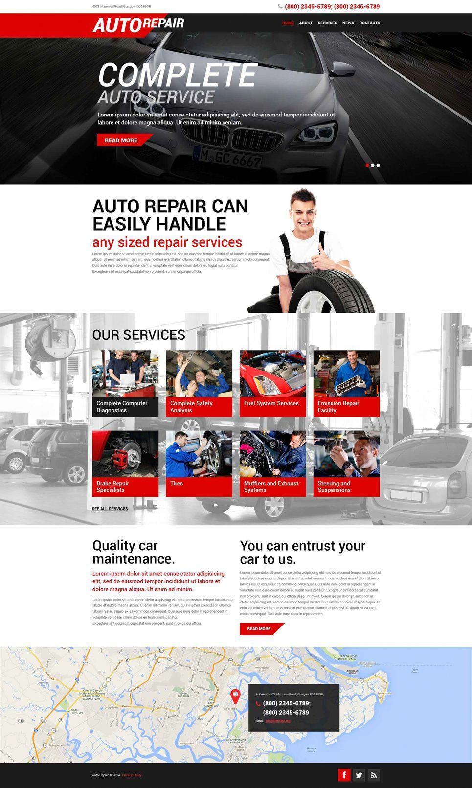 Auto Repair Service Wordpress Theme Repair Auto Service Car Repair Service Auto Repair Repair