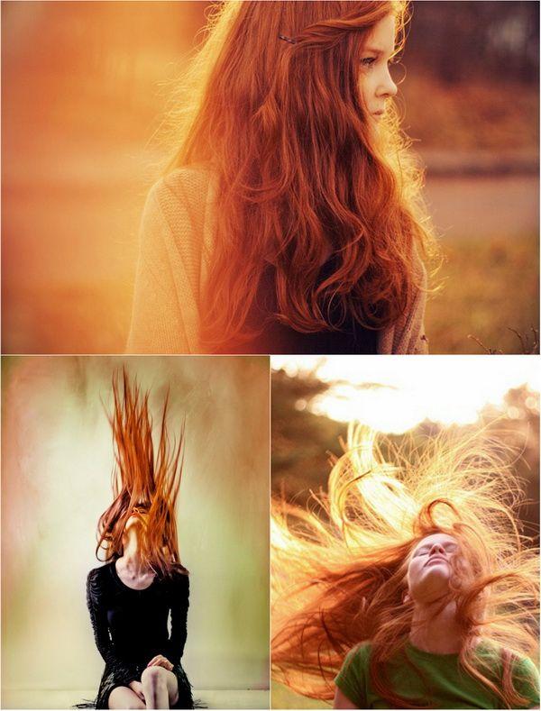 Super Lange Haare In Orange Ombre Mit Clip In Haarverlängerung Für