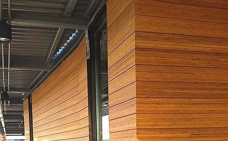 Sustainable high performance exterior wall cladding products made from engineered bamboo rain for Sustainable exterior cladding materials