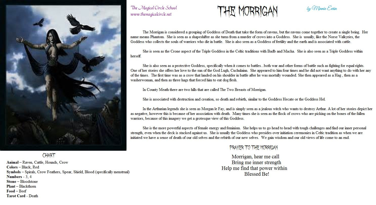 The Morrigan by Minnie Eerin The Magical Circle School www