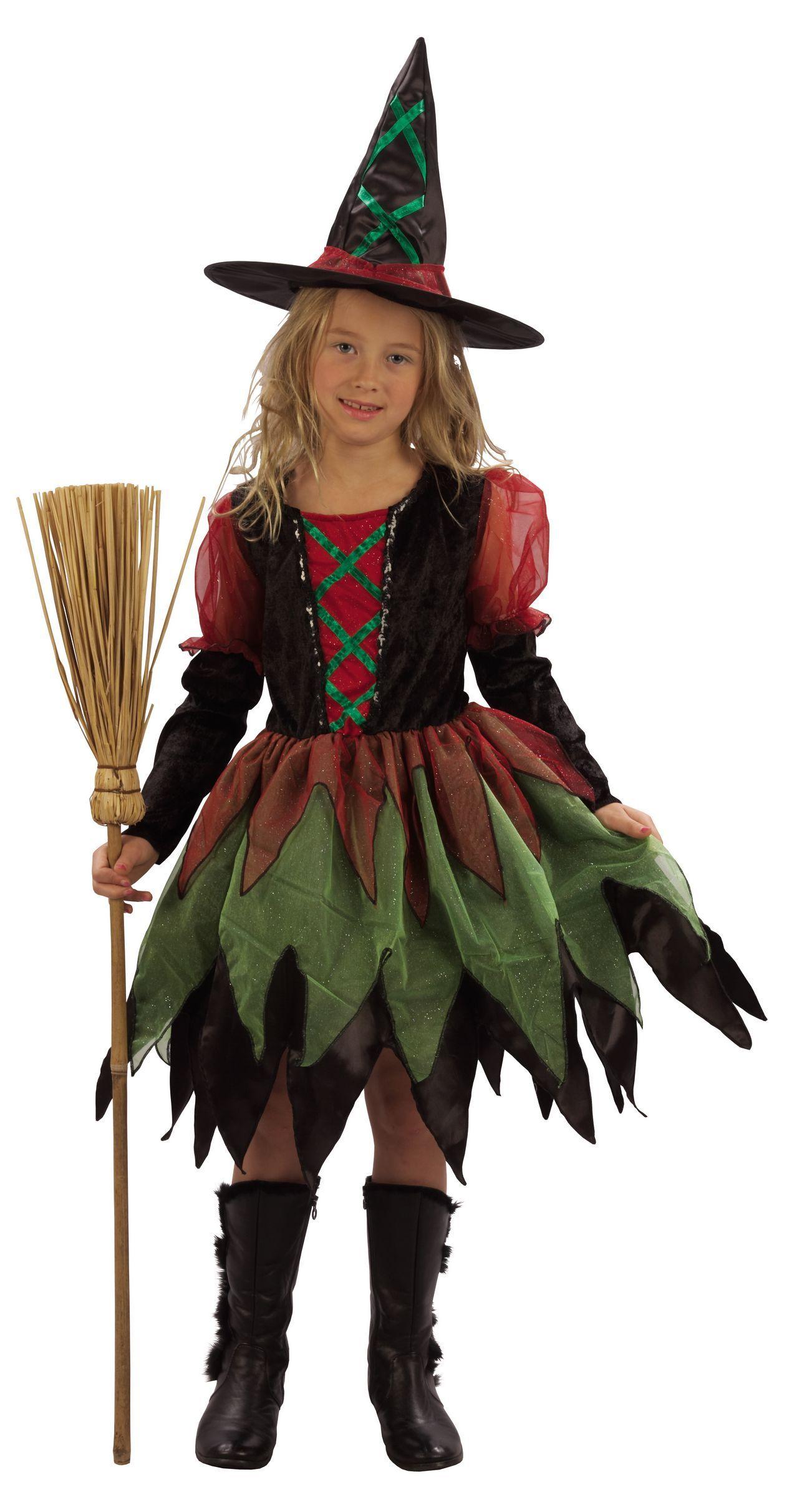 Disfraz de bruja del bosque para niña Halloween Disfraz