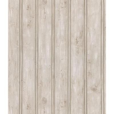 Brewster 56 Sq Ft Beadboard Wallpaper 145 44124 The Home Depot Beadboard Wallpaper Beadboard Wood Wallpaper