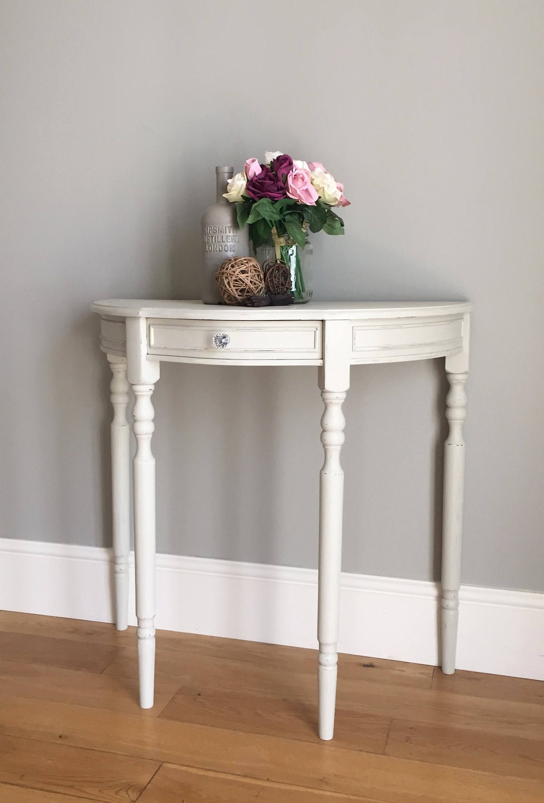 half moon console table. Half Moon Painted Console Table (delivery Quote Available On Request) By BaskervilleRoss Etsy