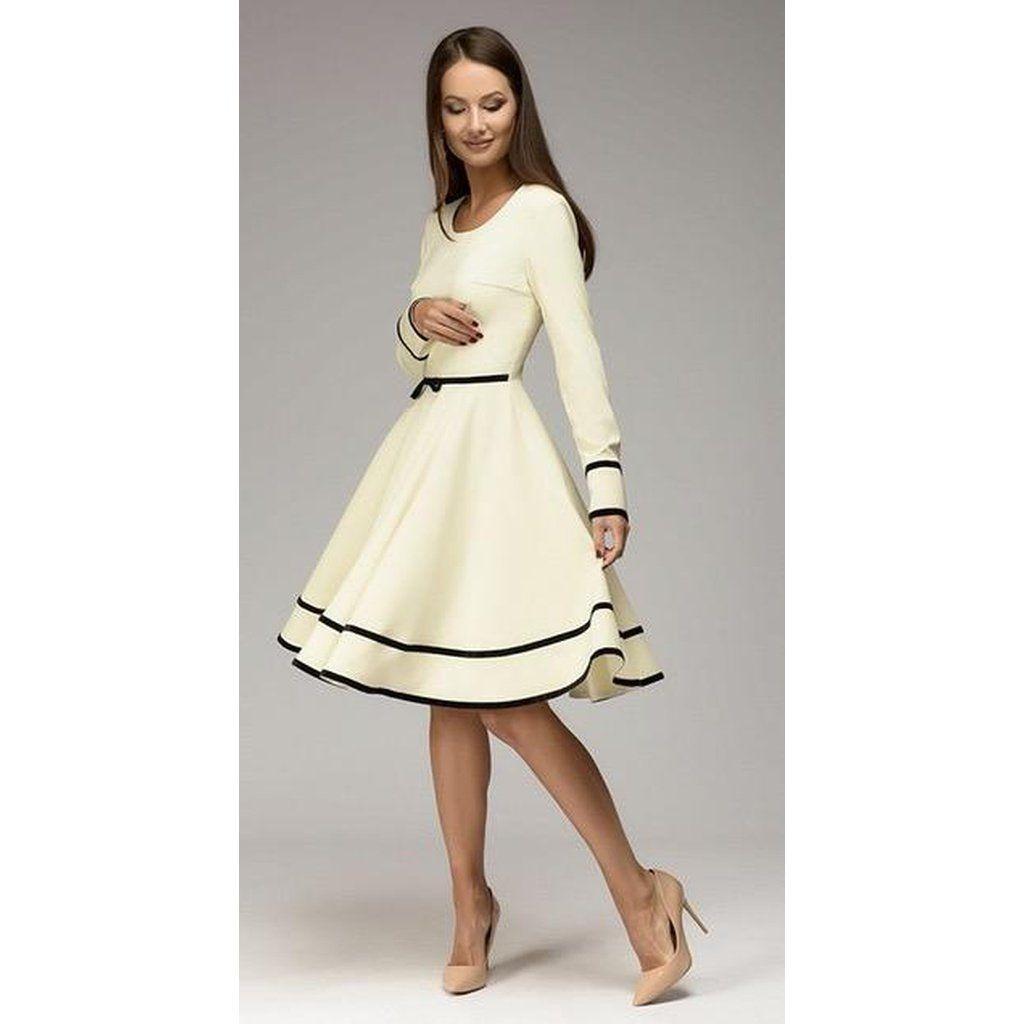 59f28ddc16c Women Long Sleeve Knee-Length Elegant Classy Dress - www.ettuet.com ...